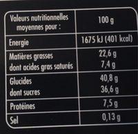 Le Succès aux Noix - Informations nutritionnelles - fr
