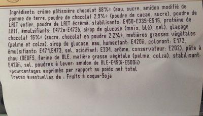 Selectionne par votre magasin, Eclair au chocolat, les 2 - Ingrédients