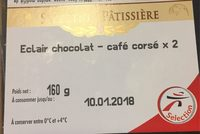 Eclairs au café et chocolat les 2 pièces 200 Gr - Produit