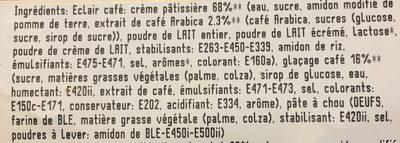 Eclairs au café et chocolat les 2 pièces 200 Gr - Ingrédients