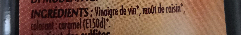 Vinaigre balsamique de modène - Ingredients