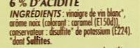 Vinaigre de vin aromatisé noix - Ingredients - fr