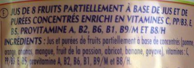 Jus Multivitaminés - Ingredients