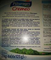 Créméo aux fruits (abricot, fraise, mûre, pêche, cerise, poire), yaourt au lait entier et à la crème sucré avec des fruits et aromatisé - Ingrédients - fr