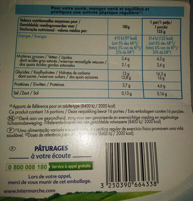 Créméo aux fruits (abricot, fraise, mûre, pêche, cerise, poire), yaourt au lait entier et à la crème sucré avec des fruits et aromatisé - Informations nutritionnelles - fr