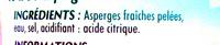 Asperges pic nic - Ingrédients