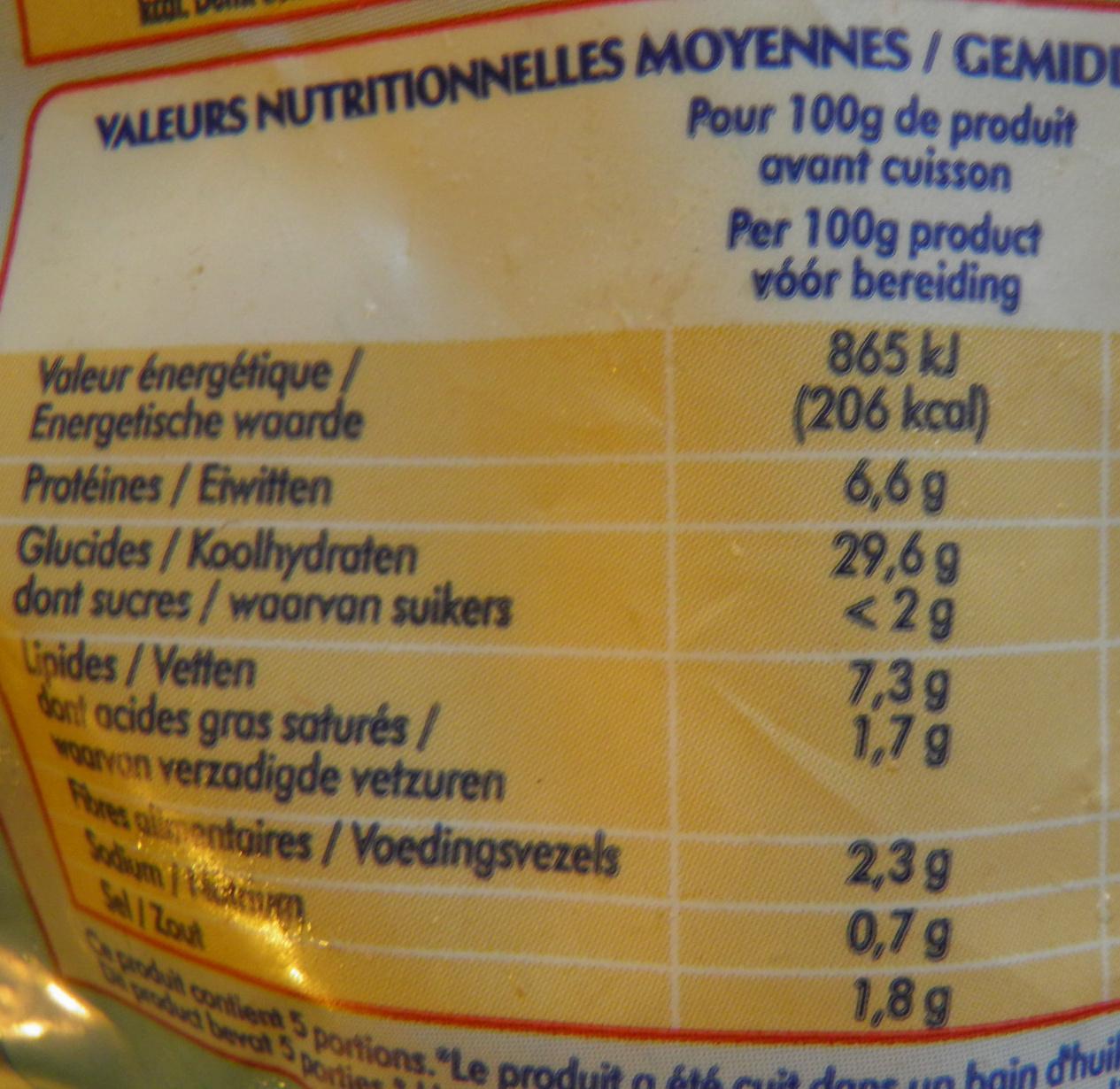 Calamars à la Romaine Odyssée - Informations nutritionnelles - fr