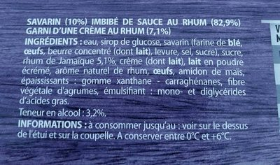 Baba au Rhum des Antilles - Ingredients