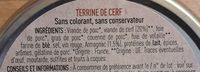Terrine De Cerf - Ingredients