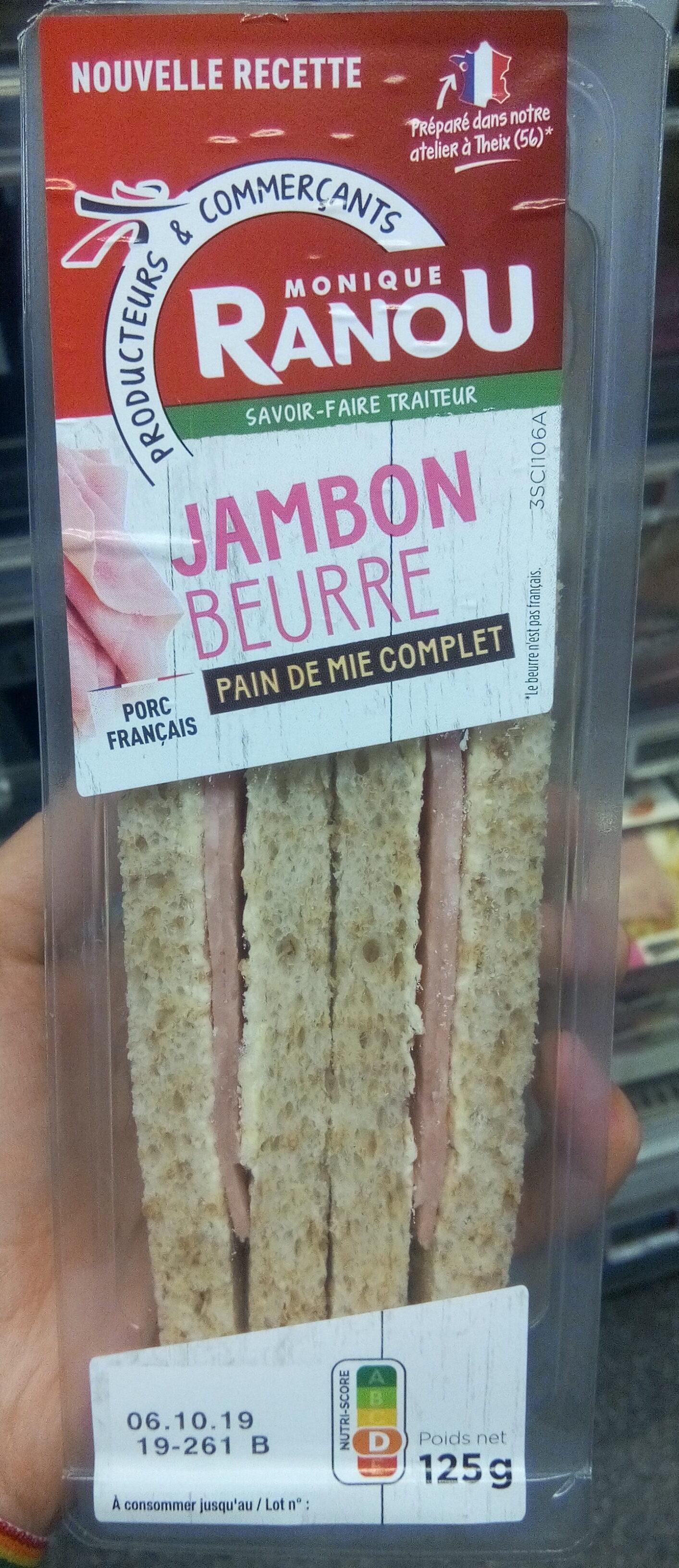 Jambon beurre pain de mie complet - Produit