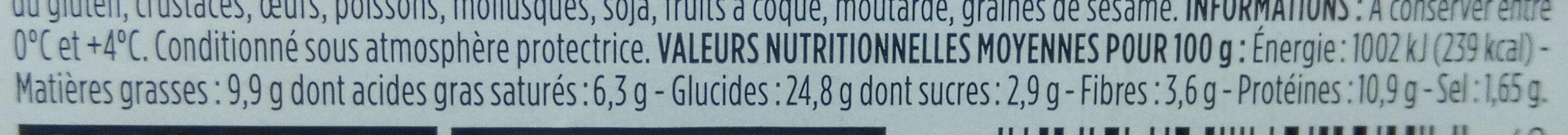 Jambon beurre pain de mie complet - Informations nutritionnelles