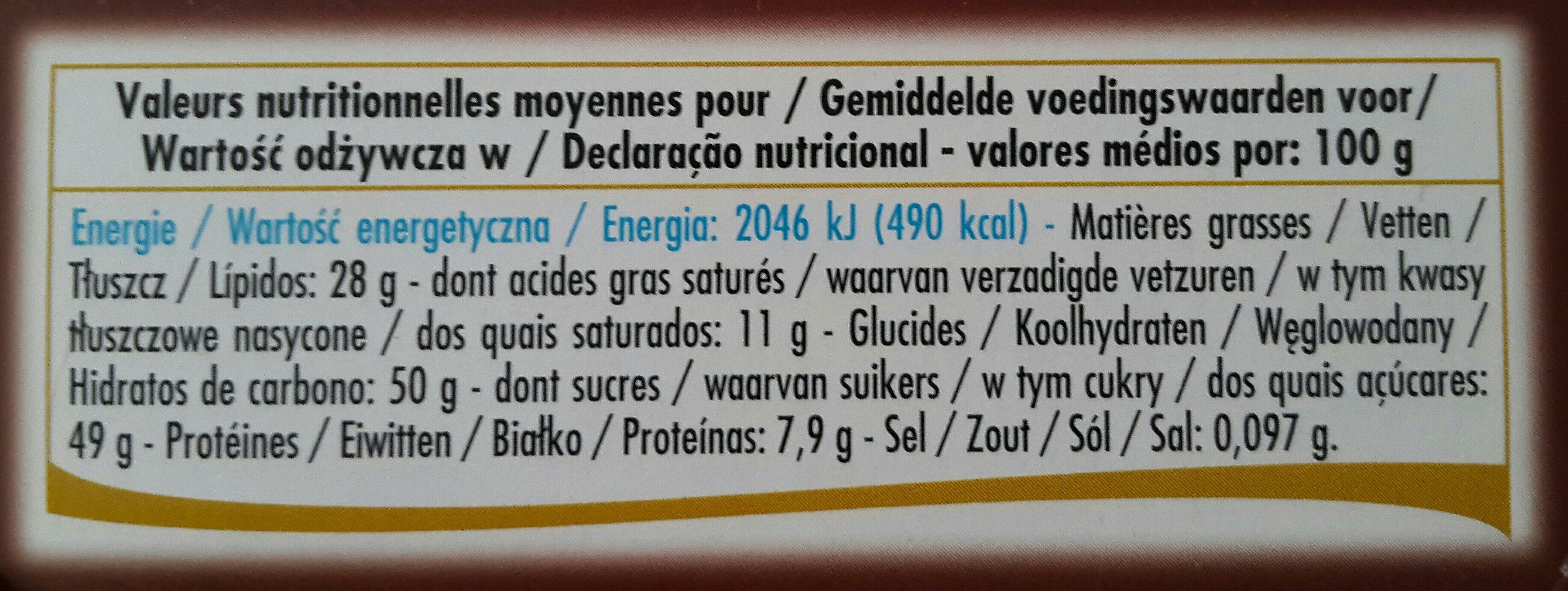 Ballotin nougatines - Ingredients