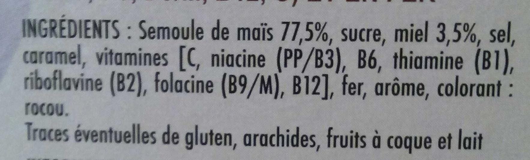 Céréales miélak au miel - Ingredients - fr