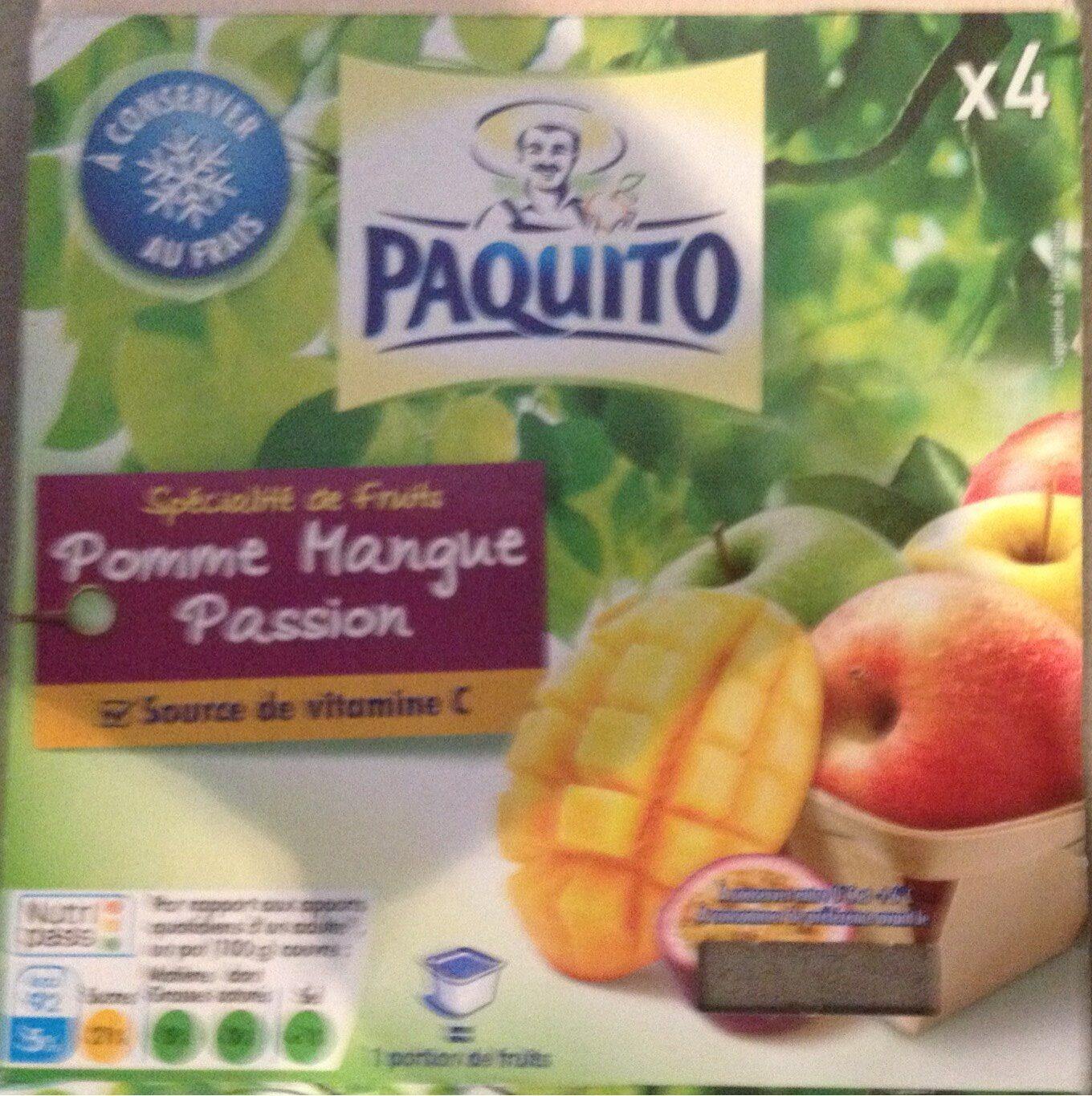 Dessert De Fruits Pomme Mangue Passion, 4 x 100g, - Produit