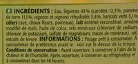Velouté Légumes - Ingrédients - fr