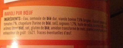 Ravioli Pur Bœuf - Ingrediënten - fr