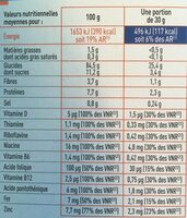 Pétales & form' nature 375g - Nutrition facts - fr