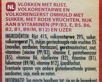 Céréales forme fruits rouges - Ingrediënten - nl