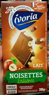 Chocolat au Lait aux Noisettes Entières - Produit