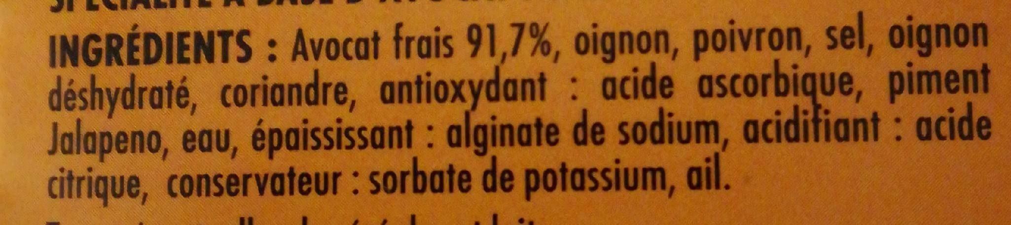 Guacamole avocat frais - Ingredients - fr