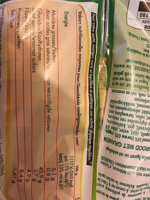 Grand mie 7 céréales - Voedigswaarden