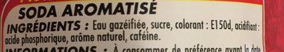 Cola one - Ingrediënten - fr