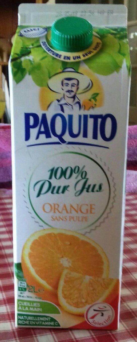 100% Pur Jus Orange sans pulpe - Product - fr