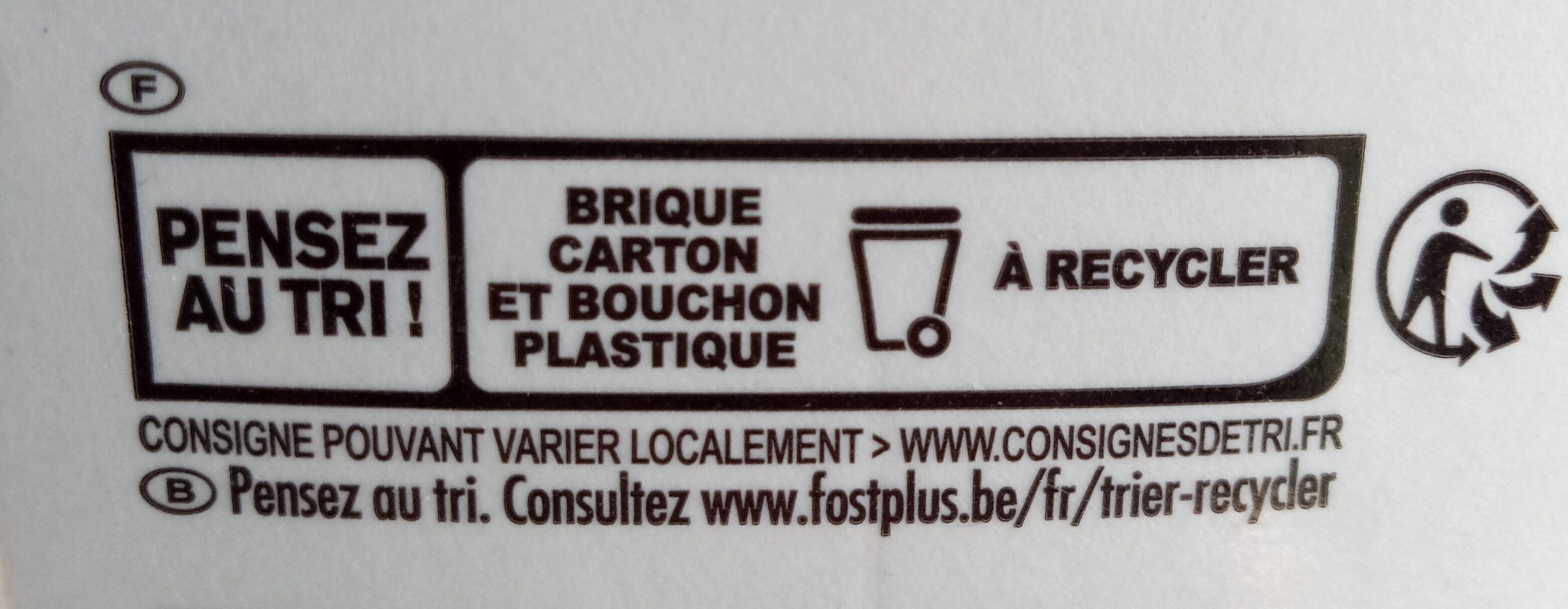 100% Pur Jus Orange sans pulpe - Recycling instructions and/or packaging information - fr