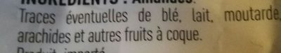 Amandes effilées - Ingredients