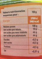 Huile De Friture - Valori nutrizionali - fr