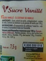 Sucre vanillé - Ingredients