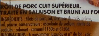 Mon Rôti de Porc - Ingredients - fr