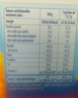 Tournesol allege - Informação nutricional - fr