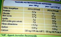 Bifidus nature (12 Pots) - Voedingswaarden