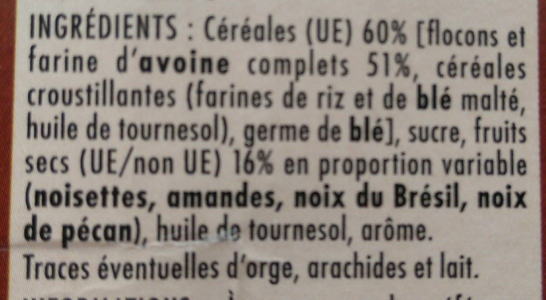 Muesli Crisp 4 Noix - Ingredients