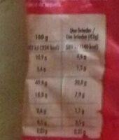 Brioches (x 8) aux Pépites de Chocolat - Nutrition facts