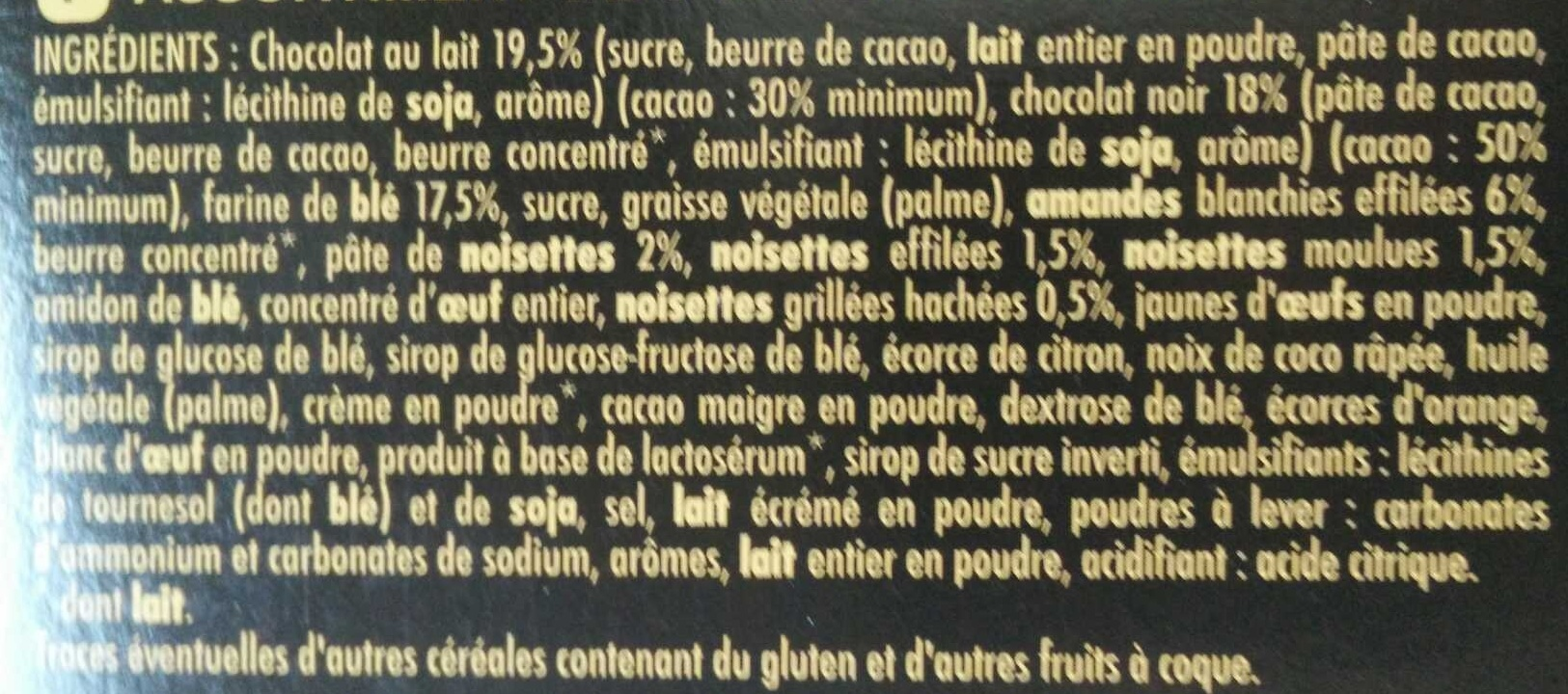 Farandole - Ingredients