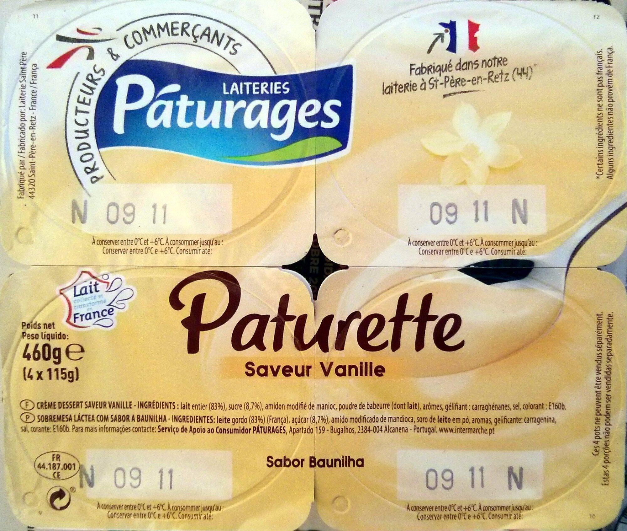 Paturette Saveur Vanille - Produit - fr
