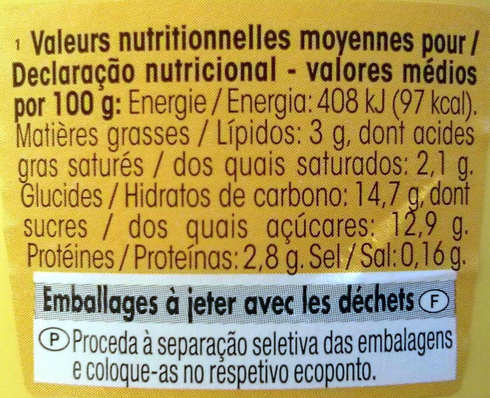Paturette Saveur Vanille - Informations nutritionnelles - fr