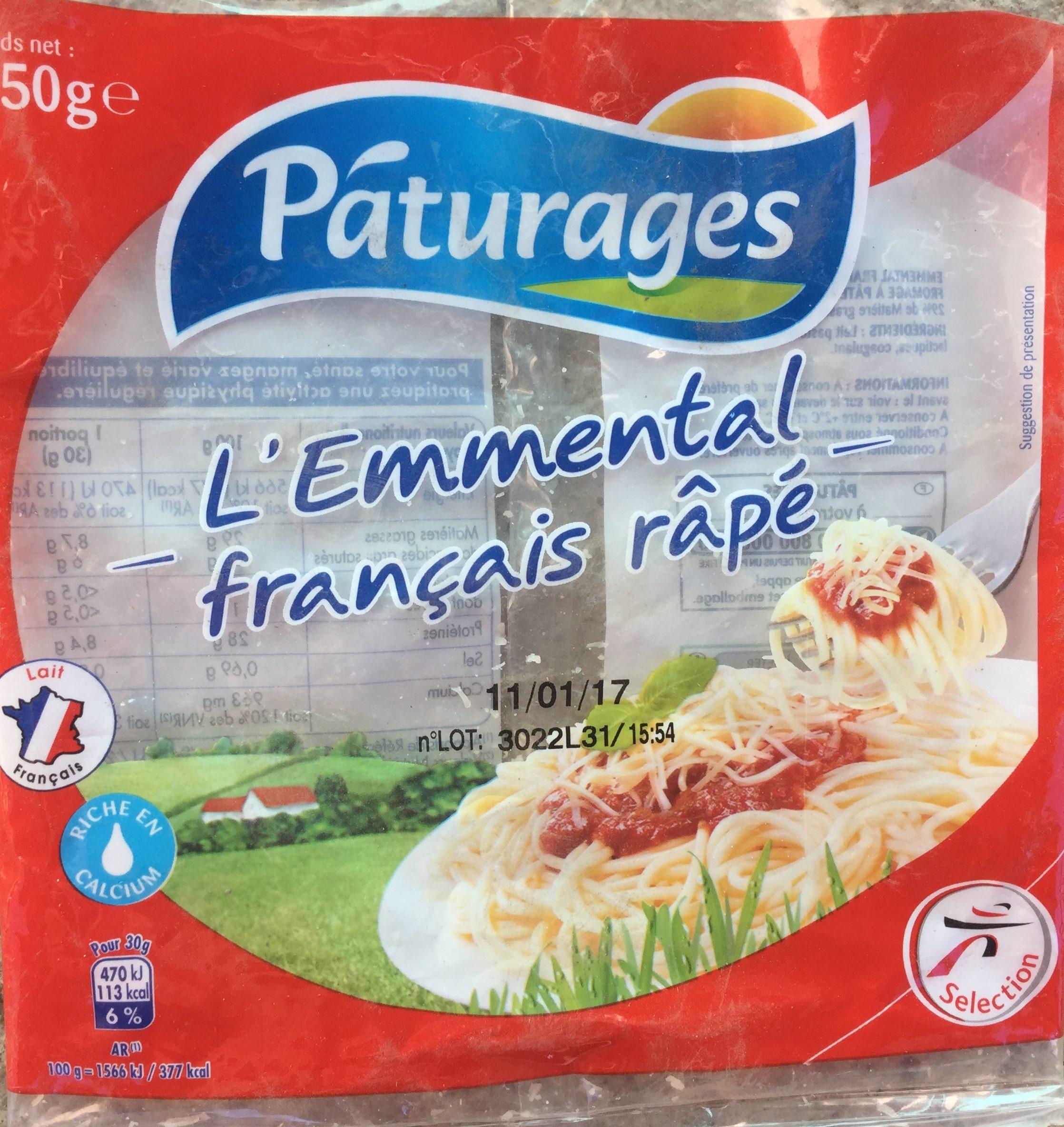 Emmental français rapé - Product - fr