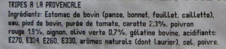 Tripes à la Provençale - Ingredients - fr