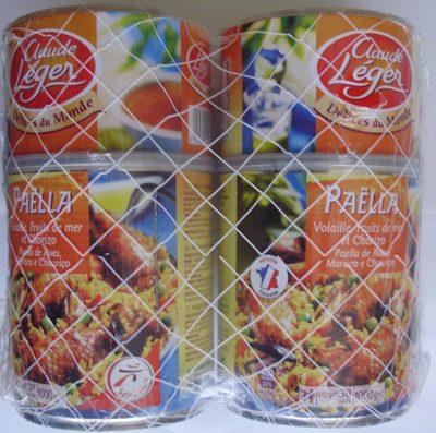 Paëlla Volaille, Fruits de mer et Chorizo (Lot de 2) - Produit