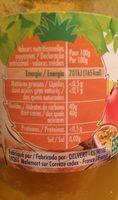 Confiture Allégée mangue ananas passion - Voedingswaarden - fr