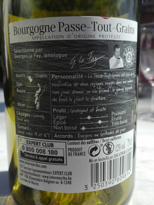 vin passe tout grain - Ingrediënten - fr