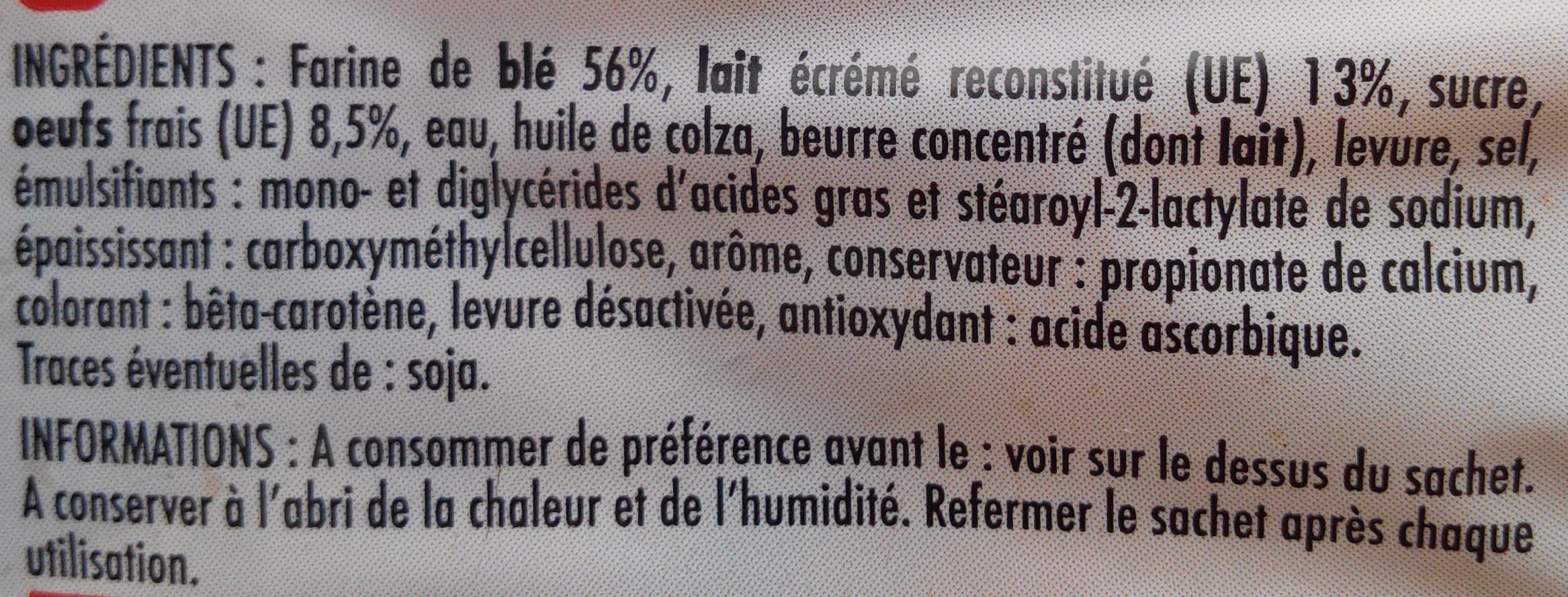 15 Pains au Lait aux Œufs Frais (Format Familial) - Ingredients