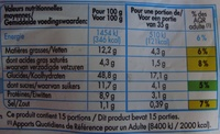 15 Pains au Lait aux Œufs Frais (Format Familial) - Nutrition facts