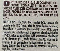 Céréales forme chocolat noir - Ingrédients - fr