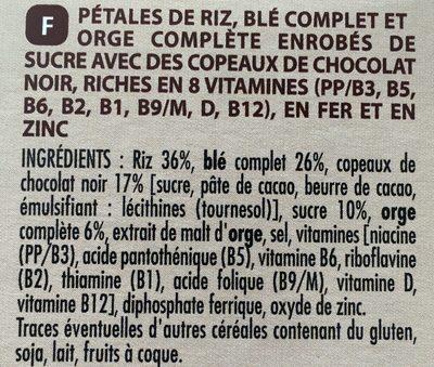 Forme & chocolat - Ingrédients