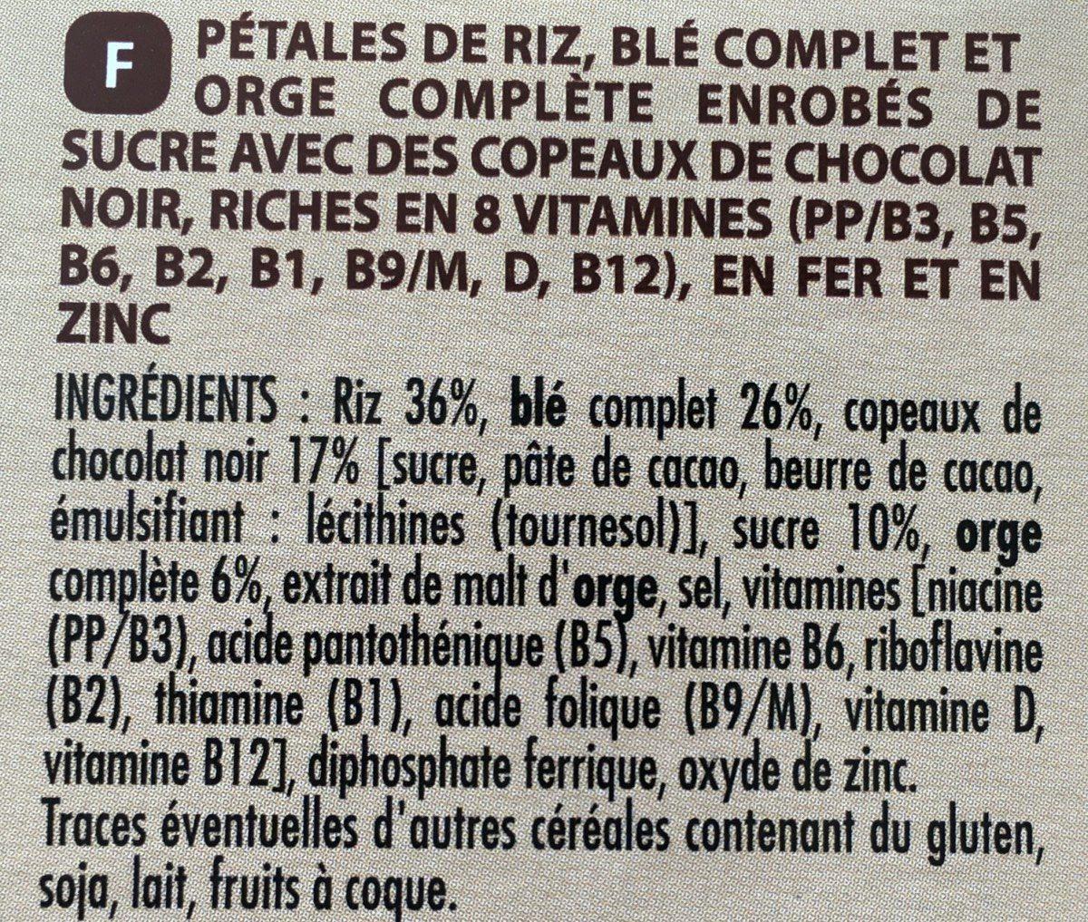 Forme & chocolat - Ingredients - fr