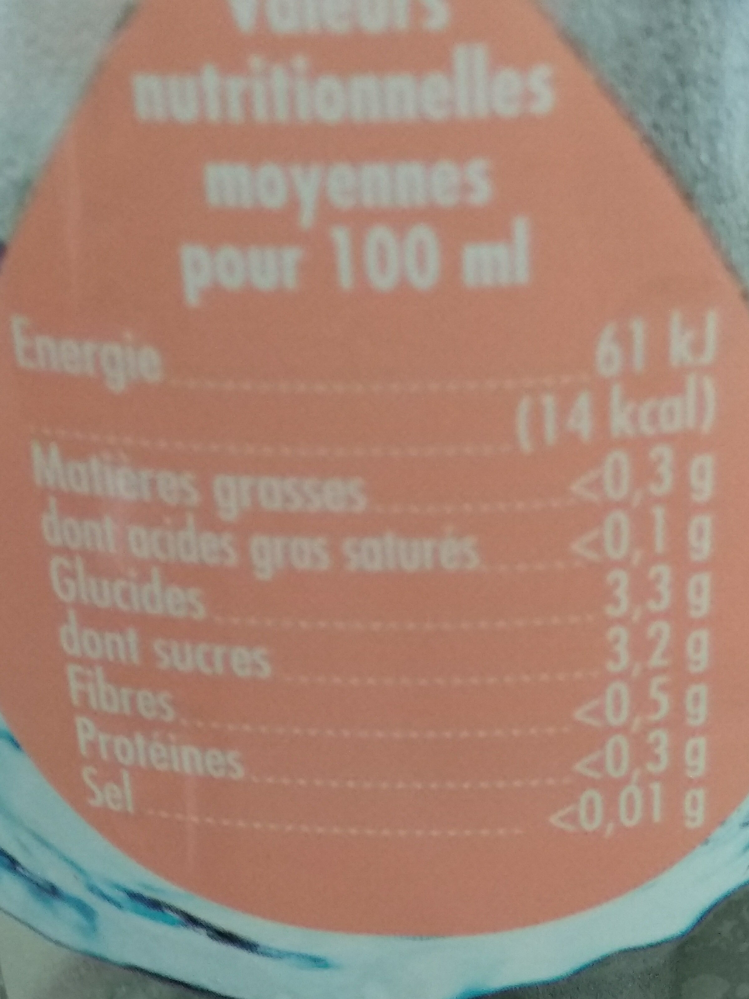 Luchon - Informations nutritionnelles - fr